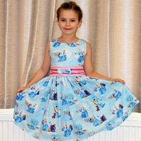 Princess party dress- girls summer dress
