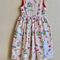 Unicorn sleeveless party dress for special occasion