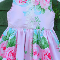English Garden Tea party dress- vintage children's dress.