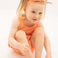 Toddler romper - summer  romper - coral toddler romper