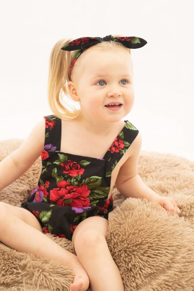 Toddler romper - summer floral romper