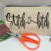 Personalised sewing pouch, needle case, sewing accessory.