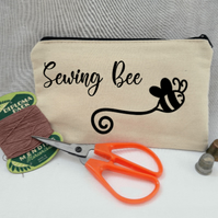 Bee inspired sewing case, craft accessory.