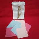 Reusable face wipe- set of two size reusable face scrubs.