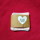 Set of three reusable mini face wipes.