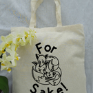 For fox sake- funny cotton tote bag.