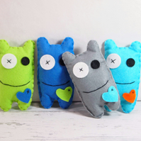Felt Monster Party Favor, Perfect for Adopt A Monter, Moster Plushie