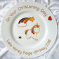 Personalised Rainbow Unicorn Baptism Plate
