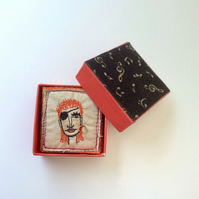 David Bowie Halloween Jack sewn brooch