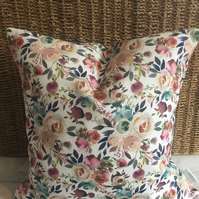 Watercolour Floral Scatter Cushion