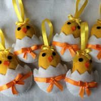 Pack of 6 Easter Chicks.
