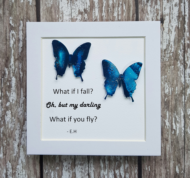 Mini Frame What If I Fall Quote Detailing E Folksy
