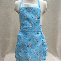 Kids Apron Blue  Rabbit Theme