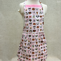 Kids Apron Dog Theme Fabric,  Kids Apron