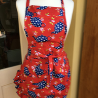 Ladies Apron , Vintage Style Ladies Apron, Pinny, Vintage 50s