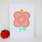 A4 Pink Tulip Screen Print by janeBprints
