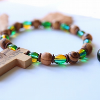 Bethlehem Olive Beads Bracelets 2 x Pieces Jerusalem Gemstone Jewellery Wood