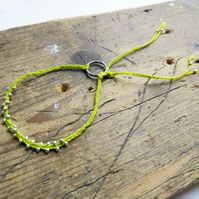 Handmade Sustainable Beaded Bracelet