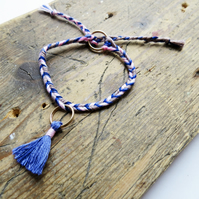 Handmade Sustainable Tassel Bracelet