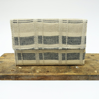 Handwoven Sustainable Linen Clutch Bag