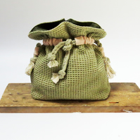 California Cool Bucket Bag - Handwoven & Handmade