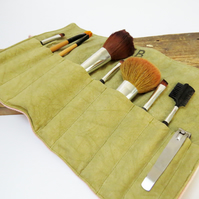 Handmade Denim Makeup Brush roll
