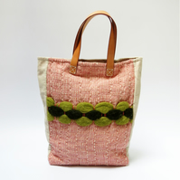 Unique Textured Large Tote Bag - Handwoven & Sustainable