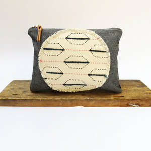 Sustainable Embroidered Zip Pouch