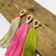 Sustainable Tassel Keyring