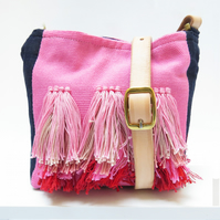 Contemporary Fringe Crossbody bag - Handwoven & Sustainable