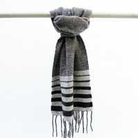 Contemporary Stripe Blanket Scarf  - Handwoven & Sustainable