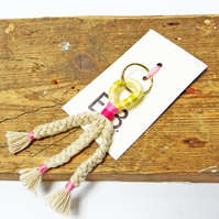 Zero Waste Plait Keyring - Handmade & Sustainable