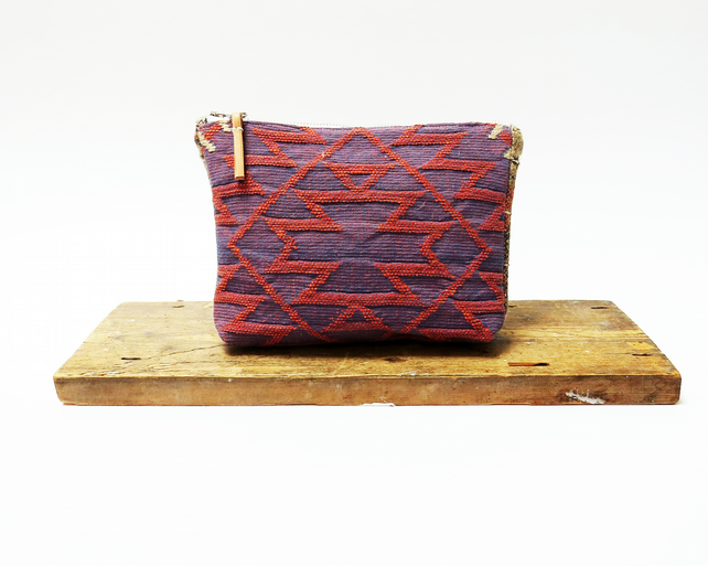 Contemporary Pattern Make Up Bag - Handmade & Sustainable