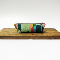 Graphic handpainted pencil case - Handmade & Sustainable