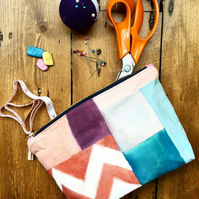 Beautiful Handpainted Make Up Bag - Handmade & Sustainable