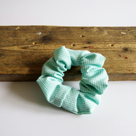 Pretty Organic Check Scrunchie - Handmade & Sustainable