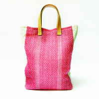 Bright and Colourful Large Tote Bag - Handwoven & Sustainable