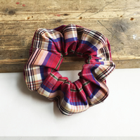 Gorgeous Summer Check Scrunchie - Handmade & Sustainable
