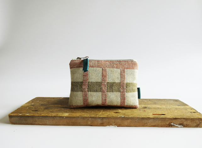 Graphic Handwoven Purse - Handmade & Sustainable