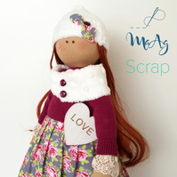 Handmade Tilda's Doll with Heart