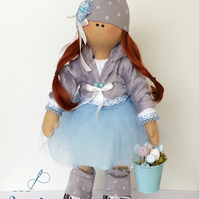 Handmade Tilda's Doll with Eggs - 2