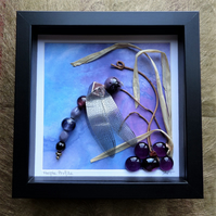 Purple Profile Beaded Dragonfly Box Frame