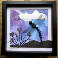Night Flight, Beaded Dragonfly Box Frame