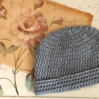 Women's Crochet Beanie With Up or Down Rim