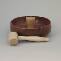 Nut bowl and mallet