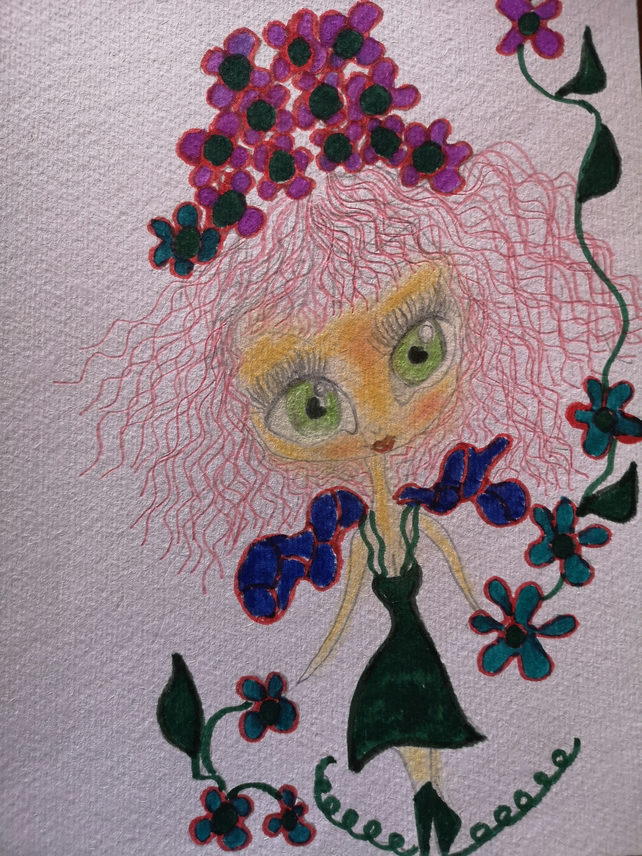 FLOWER FAIRY DRAWING