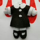 25cm tall Wednesday Addams Headless Doll, Halloween, Cosplay Accessory