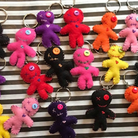 Voodoo Doll Keyring, Felt, Horror, Break Up Gift, Friendship Present