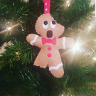 Gingerdead Man, Horror Inspired Christmas Ornament, Gingerbread Tree Decoration