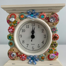Buttons and flowers clock